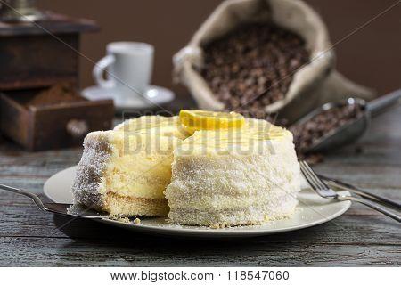 Lemon Cake and Coffee