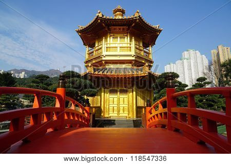 Gold Pavilion at Nan Lian Garden