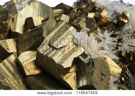 pyrite and crystal