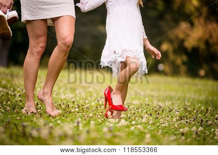 In her shoes - mother and daughter