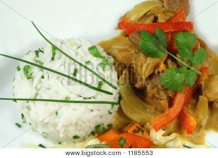 Thai Curry And Rice