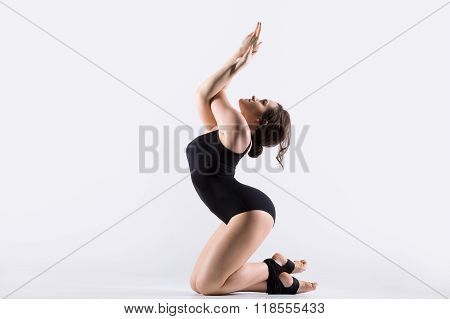 Young Gymnast Woman Working Out