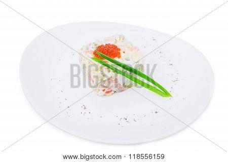 Traditonal russian salad olivier.