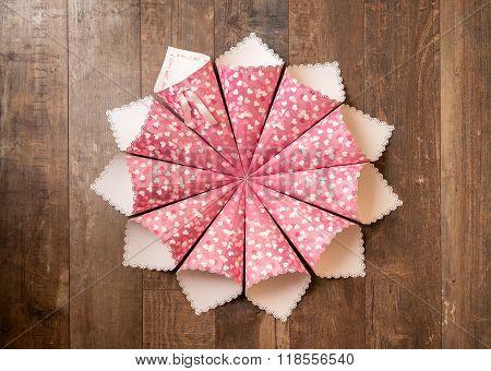Handmade Paper Cornets On Wood Background