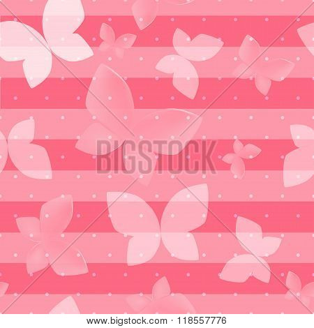Elegant Soft Pink Color Butterfly