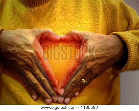 Valentine Heart - Hand Symbol