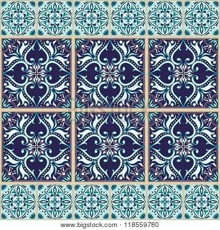 Vector Seamless Texture. Beautiful Colored Pattern For Design And Fashion With Decorative Elements A