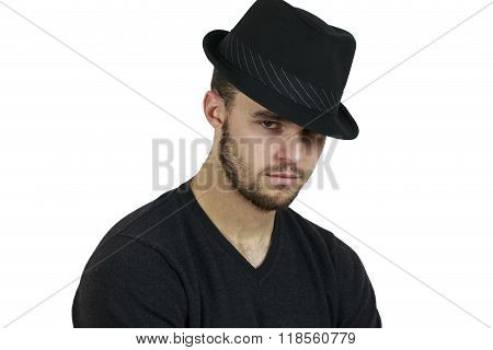 Man Wearing Fedora