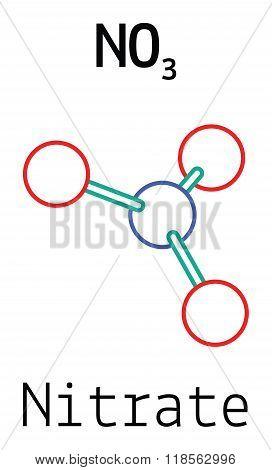 NO3 nitrate molecule