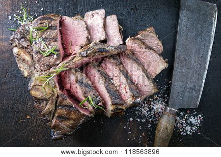 Dry Adged Barbecue Porterhouse Steak