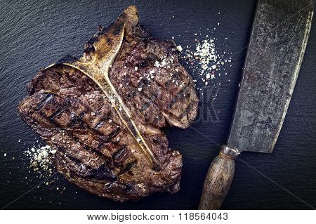 Dry Aged Barbecue T-Bone Steak
