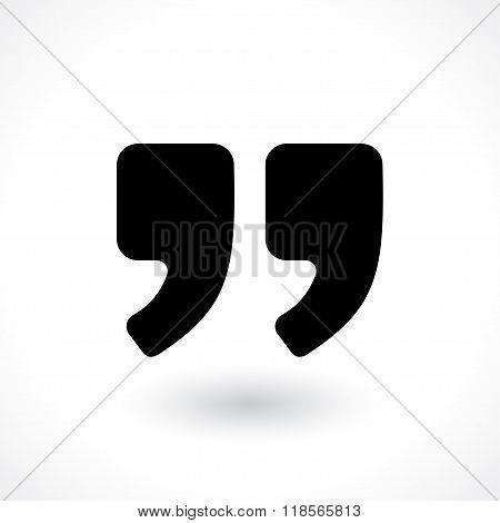 double commas