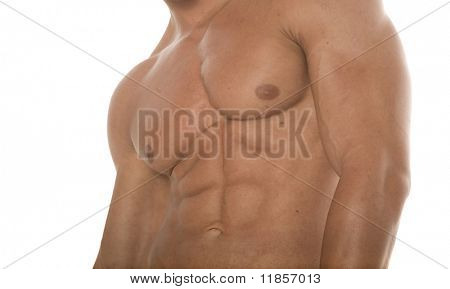 Abs of a muscular man