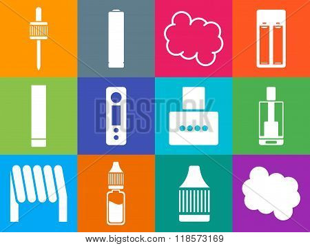 Vaping Icons Set