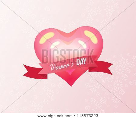 Heart on a light background. International Happy Women's Day