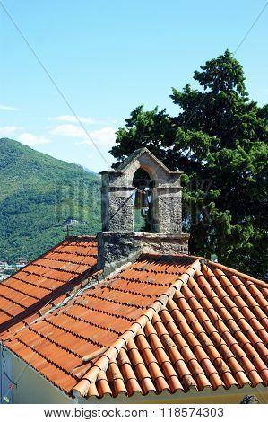 The roof of the church of St. Sava in Herceg Novi