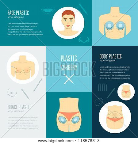 Plastic surgery concept. Flat design. Vector illustration