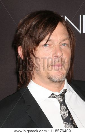 LOS ANGELES - FEB 16:  Norman Reedus at the Triple 9 Premiere at the Regal 14 Theaters on February 16, 2016 in Los Angeles, CA