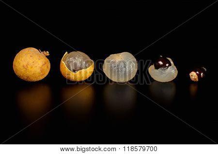 Fresh Longan Fruit Isolate On The Background
