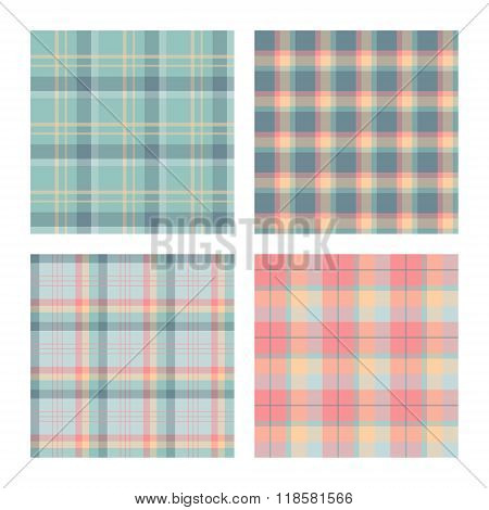Set Of Seamless Lumberjack Plaid Patterns