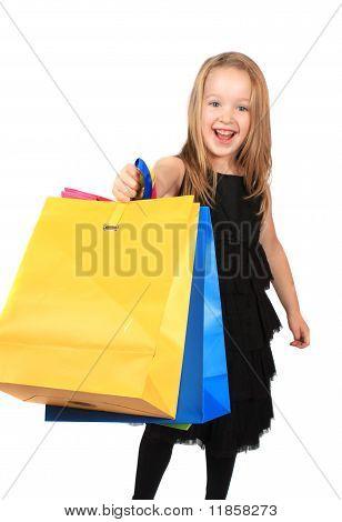 Cute Blonde Girl Shopper