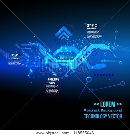 Futuristic interface infographics,Technology  digital background, DNA, Vector