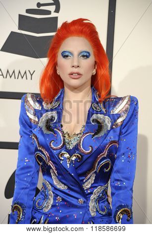 Lady Gaga at he 58th GRAMMY Awards held at the Staples Center in Los Angeles, USA on February 15, 2016.