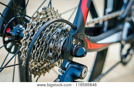 Close up of Bicycle gears
