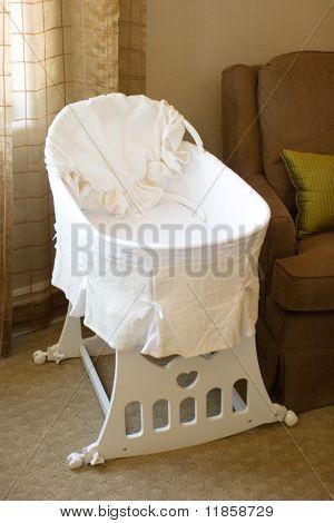 Baby bassinet in the bedroom