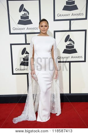 Chrissy Teigen at he 58th GRAMMY Awards held at the Staples Center in Los Angeles, USA on February 15, 2016.