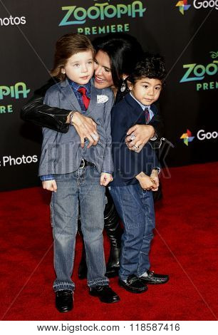 Joyce Giraud at the Los Angeles premiere of 'Zootopia' held at the El Capitan Theater in Hollywood, USA on Febraury 17, 2016.