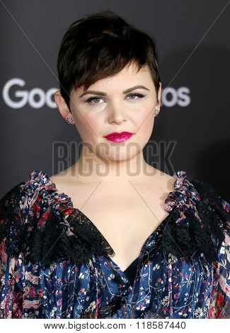 Ginnifer Goodwin at the Los Angeles premiere of 'Zootopia' held at the El Capitan Theater in Hollywood, USA on February 17, 2016.