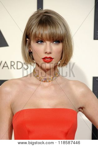 Taylor Swift at he 58th GRAMMY Awards held at the Staples Center in Los Angeles, USA on February 15, 2016.