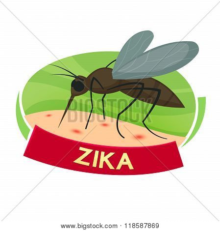 Virus Zika vector illustration