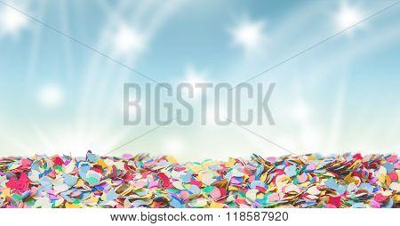Confetti Carnival Background