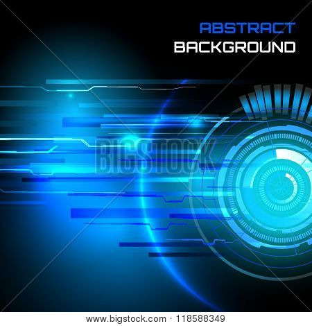 Futuristic interface, sci-fi  vector background