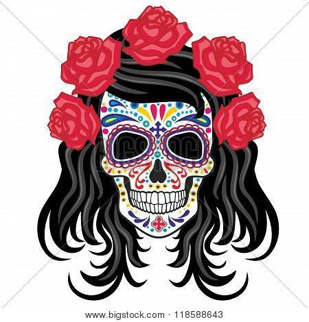 Holy Death, sugar skull