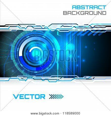 Futuristic interface, HUD,  vector background