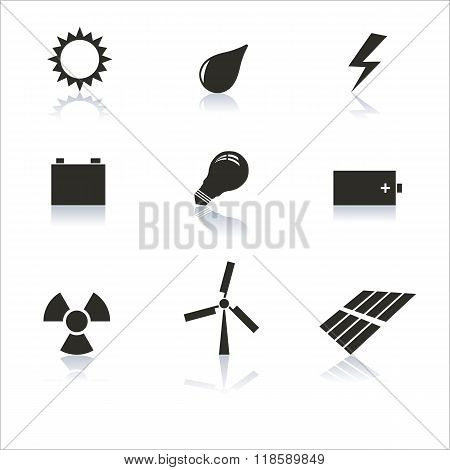 Icons Energy Vector Illustration.