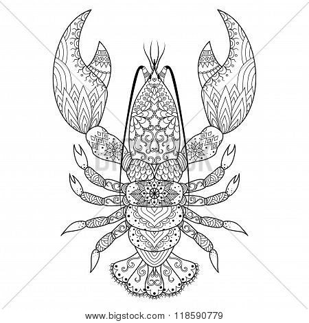 Lobster line art design