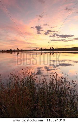 Sunset Colours Over Duralia Lake Penrith