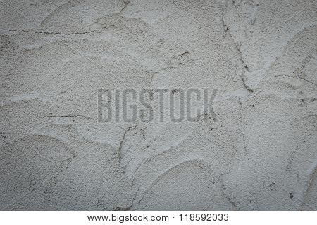 Plaster Mortar Wall Of Industrial Building Construction, Rough Cement Wall Texture Background