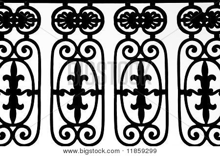Ornate Fence Pattern