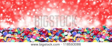 Confetti, Colorful And Round, Before Bokeh