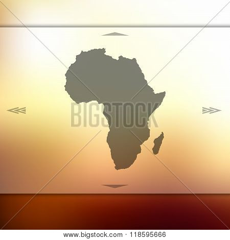 Blur background with silhouette of Africa
