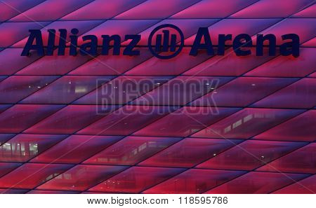 MUNICH, GERMANY - MARCH 11 2015:  A general view of the stardium before the UEFA Champions League match between Bayern Munich and FC Shakhtar Donetsk.