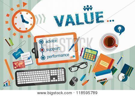 Value Design Concept. Typographic Poster.