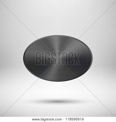 Black Abstract Badge Template
