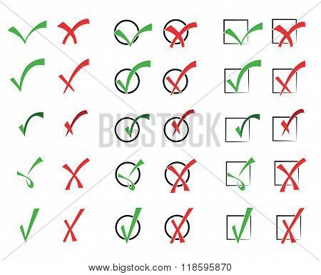 Vector collection of check marks 2