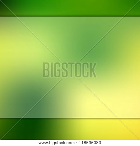 Glass on blurred green background